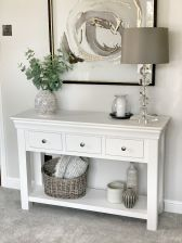 Toulouse White Painted 3 Drawer Large Console Table from Instagram Influencer @love.to.be.home