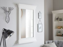 Toulouse White Painted Tall Wall Mirror