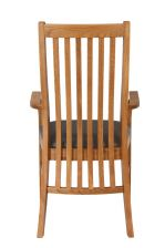 Lichfield Brown Leather Carver Oak Dining Chair