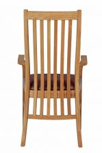 Lichfield Red Leather Carver Oak Dining Chair