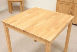 Minsk Petite 75cm Small Square Oak Dining Table