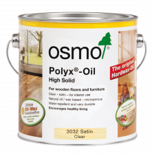 Osmo Polyx Hardwax Oil Original 3032 Clear Satin, 750ml - Free Delivery