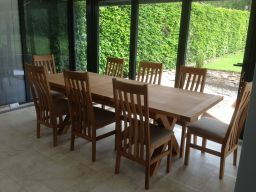 Provence 1.8m Extending to 2.3m Cross Leg Butterfly Oak Dining Table Sq End
