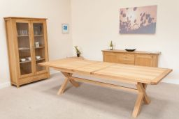 Provence 3.4m Double Butterfly X Leg Dining Table Square Ends