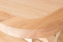 Provence 230cm Cross Leg Extending Oak Table Oval End