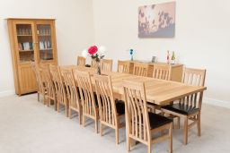 Tallinn 3.8m Large Oak Dining Table Butterfly Extending