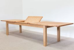 Tallinn 3.8m Large Oak Extending Table wuth Butterfly Extension