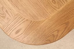1.8m - 2.3m Country Oak Cross Leg Butterfly Extending Dining Table Oval End