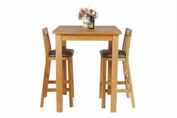 Tall Country Oak Breakfast Bar Table 80cm Square