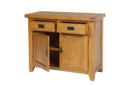 Country Oak 100cm Farmhouse Small Oak Sideboard