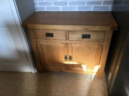 Country Oak 100cm Small Oak Sideboard