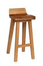 Wave Bar Stool Solid Oak Modern Contemporary Kitchen Stool Design