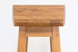 Wave Bar Stool Solid Oak Modern Contemporary Stool Design