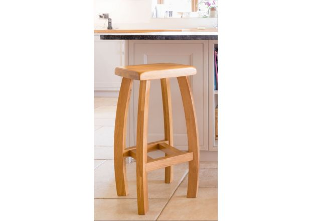 Bali Solid Oak Kitchen Stool - WINTER SALE