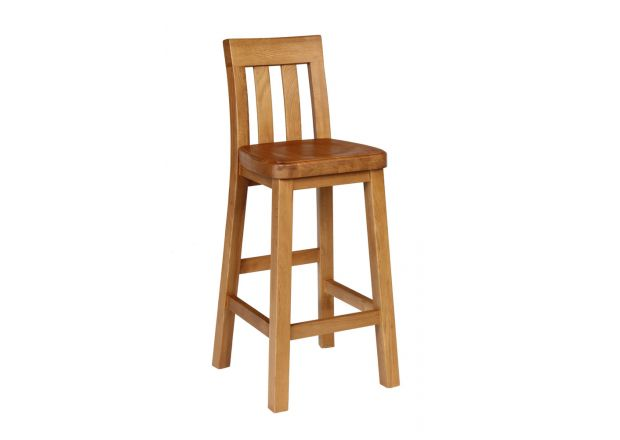 Billy Solid Oak Kitchen Bar Stool - WINTER SALE