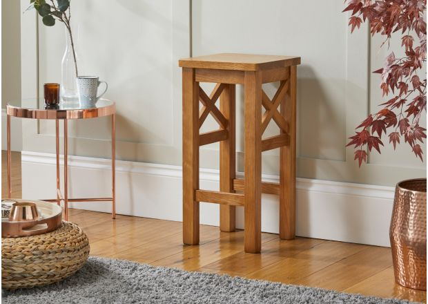 Baltic Cross Solid Oak Kitchen Bar Stool