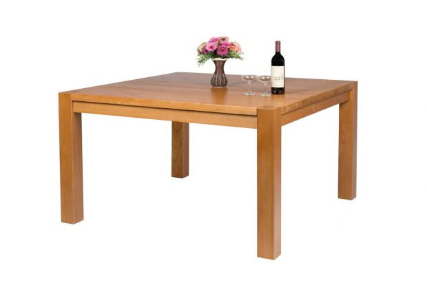 Country Oak 130cm Square Chunky Solid Oak Dining Table