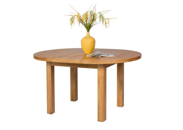 Country Oak 107cm - 145cm Round Extending Table - APRIL MEGA DEAL