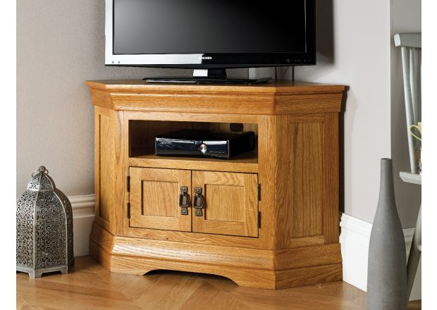 Farmhouse Corner Oak TV Unit - WINTER SALE