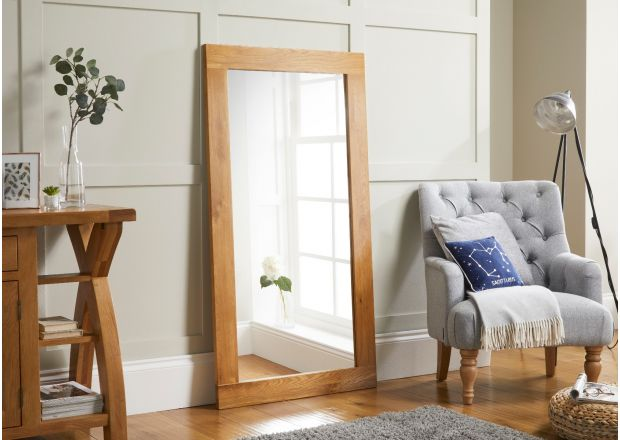 Country Oak 150cm x 80cm Oak Mirror