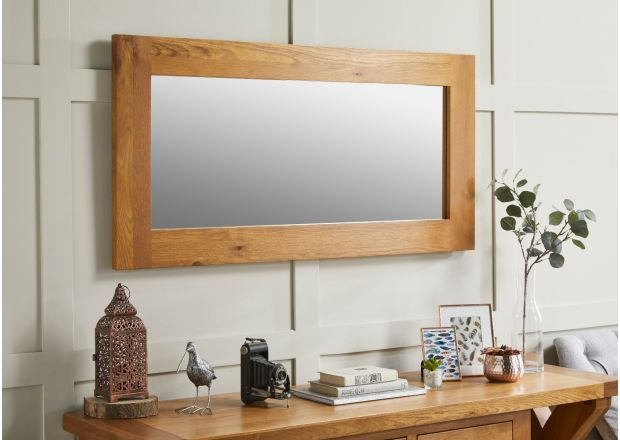 Country Oak 120cm x 60cm Oak Mirror