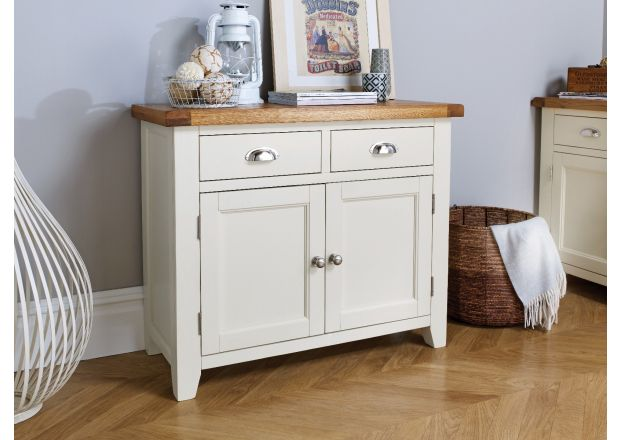 Country Cottage 100cm Grey Painted Oak Sideboard