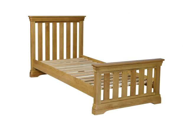 Farmhouse Country Oak 3 Foot Single Bed Slatted Design - AUTUMN SALE