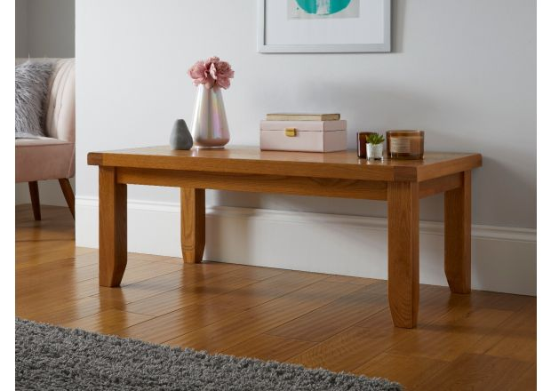 Country Oak 120cm Large Coffee Table