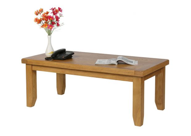 Country Oak Large 120cm Coffee Table - WINTER SALE
