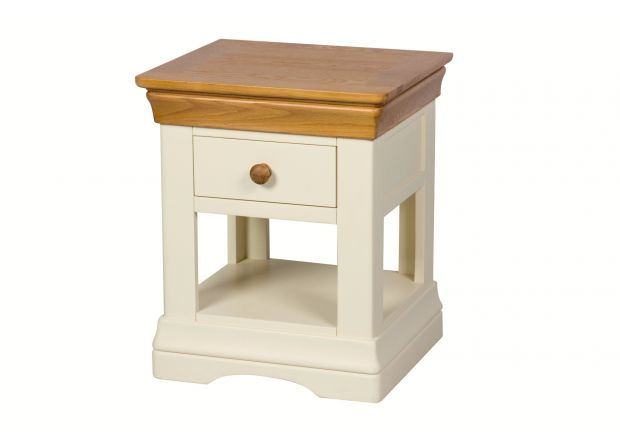 Farmhouse Country Cream Painted 1 Drawer Bedside Table - SUMMER SALE