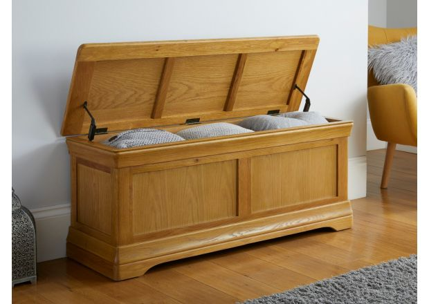 Farmhouse Large Oak Blanket Box