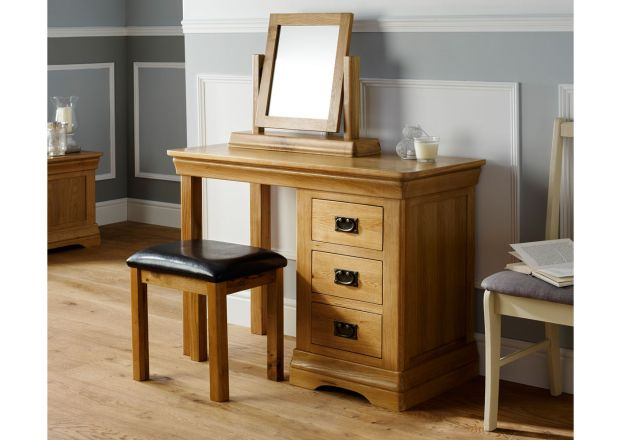 Farmhouse Country Oak Dressing Table / Desk