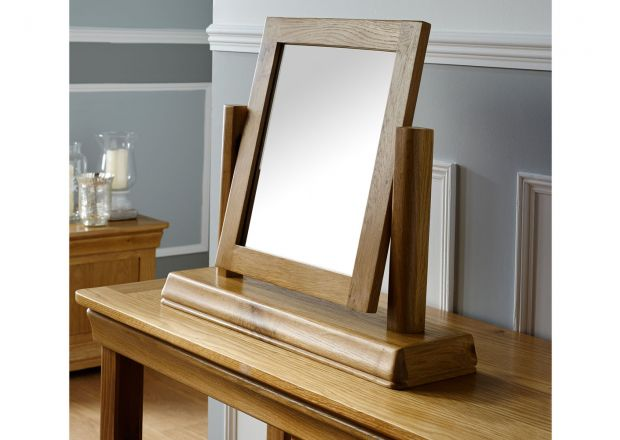 Farmhouse Country Oak Dressing Table Mirror - WINTER SALE