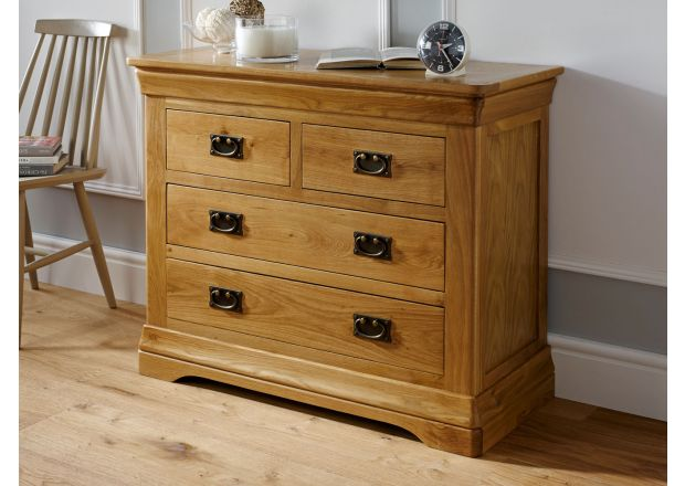 Farmhouse Country Oak 2 Over 2 Chest of Drawers - SUMMER SALE