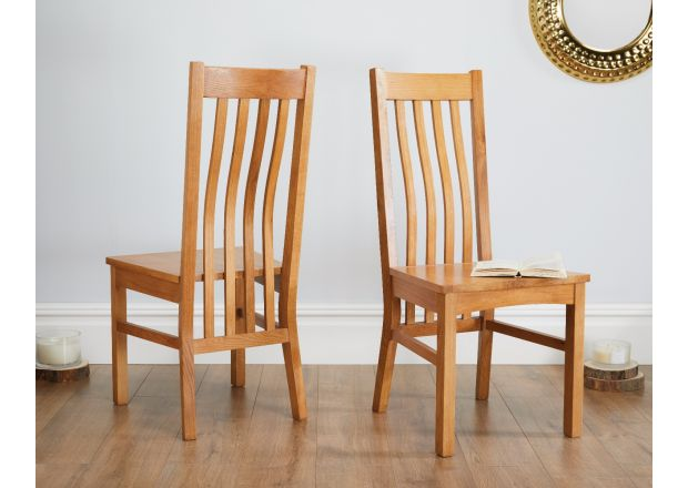 Chelsea Solid Oak Dining Chair with Oak Seat - AUTUMN SALE