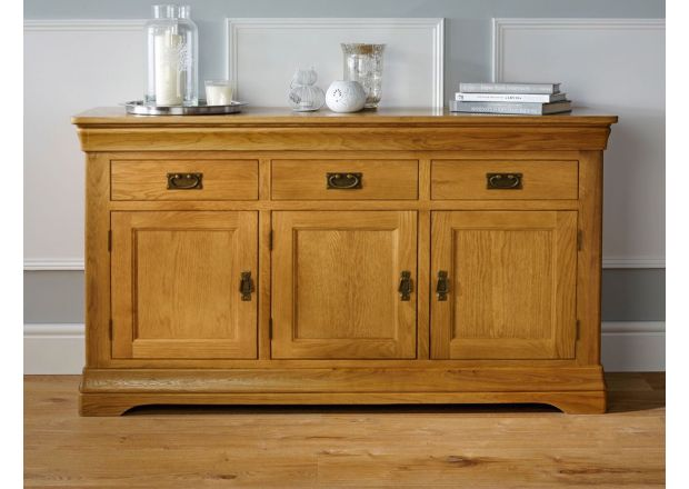 Farmhouse 140cm Large Oak Sideboard