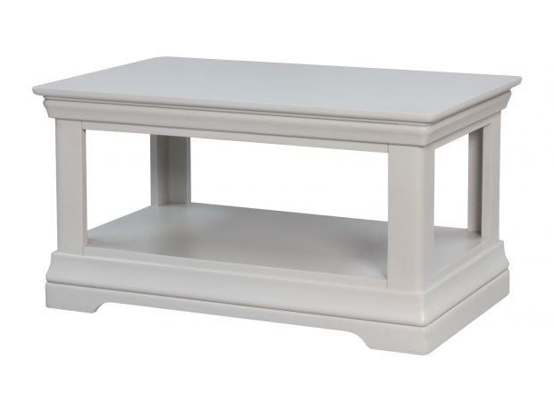 Toulouse Grey Painted Coffee Table with Shelf
