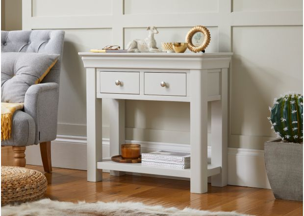 Toulouse Grey Painted Hallway Console Table 2 Drawers