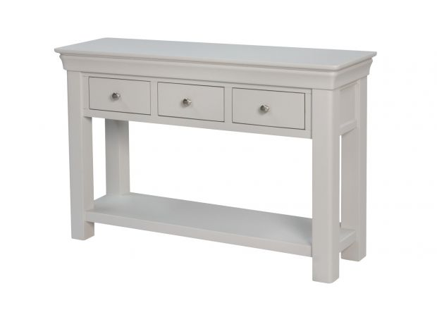 Toulouse 3 Drawer Large Grey Painted Console Table
