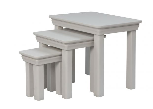 Toulouse Grey Painted Nest Of Three Tables