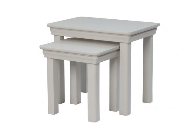 Toulouse Grey Painted Nest Of 2 Tables