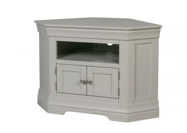 Toulouse Grey Painted Corner TV Unit 2 Doors