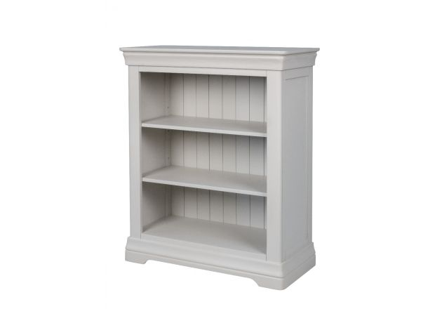 Toulouse White Painted Low Small Bookcase