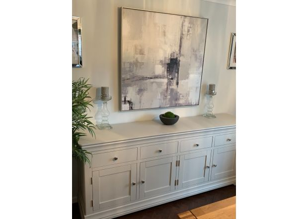 Toulouse Grey Painted 200cm Large Sideboard - customer living room photo