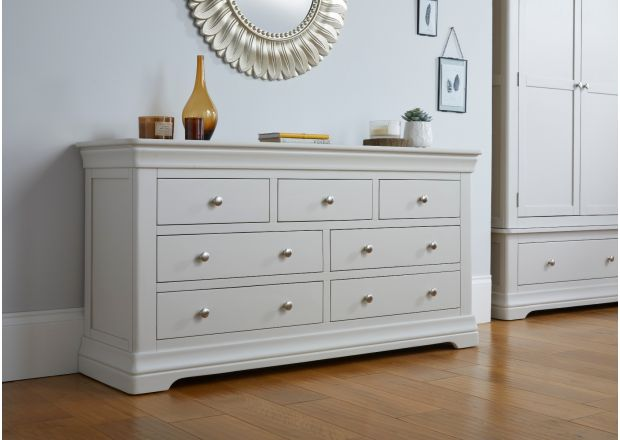 Toulouse Grey Painted Large 3 Over 4 Chest of Drawers