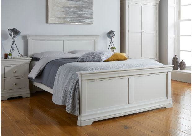 Toulouse Grey Painted King Size Bed
