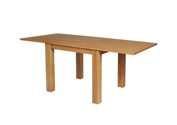 Lichfield Flip Top Extending Square Oak Dining Table 90cm to 180cm - SUMMER SALE