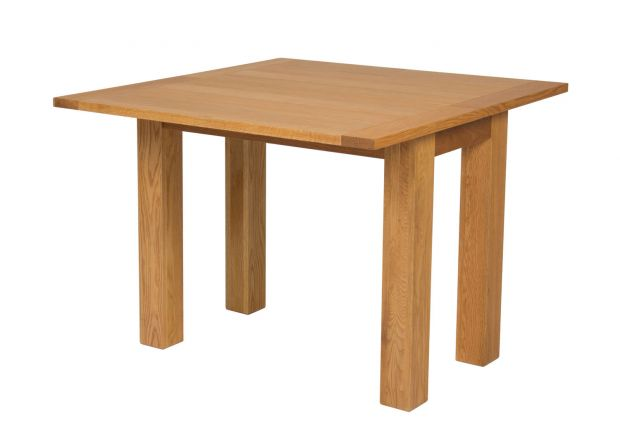 Lichfield Flip Top Square Oak Dining Table 100cm x 50cm - AUTUMN SALE