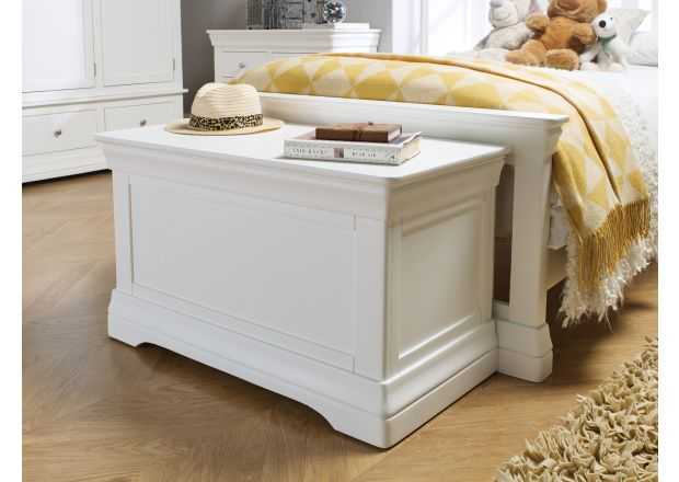 Toulouse White Painted Storage Blanket Box Ottoman - APRIL MEGA DEAL