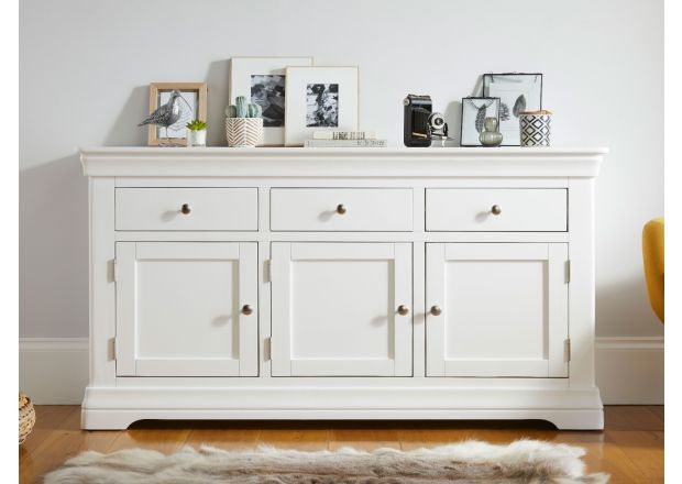 Toulouse 160cm White Painted Large Sideboard